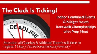 Deadline Details: Indoor Combined Events and Prep Meet