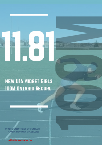 Makenzy- 100m record Ontario