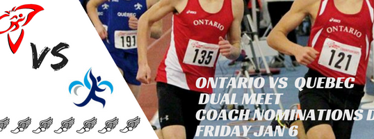Coach Nominations for Ontario Midget Dual Team due Friday January 6