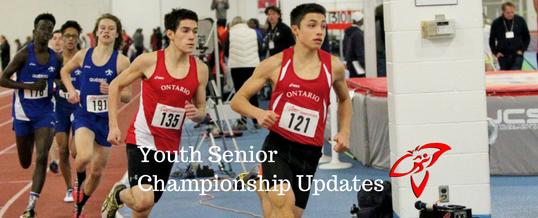 Entry Deadline: Monday February 6: AO Indoor Youth & Senior Championship
