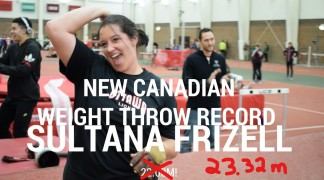 Sultana smashes Canadian indoor weight throw record…again