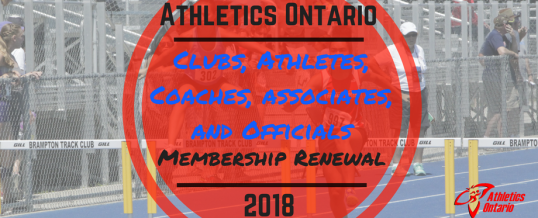 2018 Club, Athlete, Coach, and Official Membership Renewal