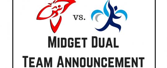 ON vs. QC Midget Dual Team Announcement